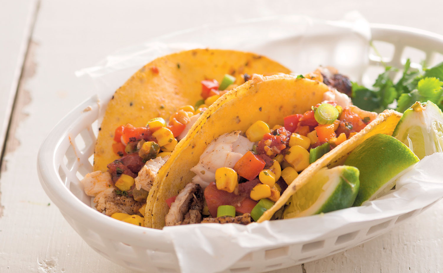 Fish tacos with corn relish for Taco bell fish tacos