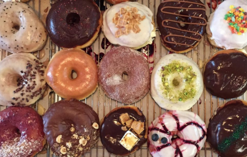 A selection of craft donuts from District: Donuts, Sliders & Brew in New Orleans