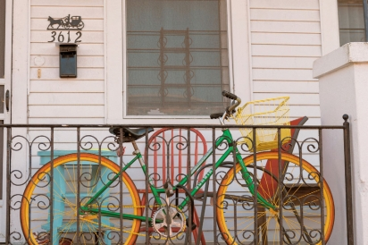 A colorful bike
