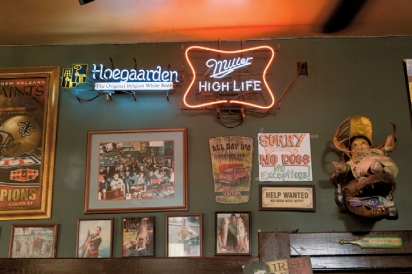Neon signs on the wall