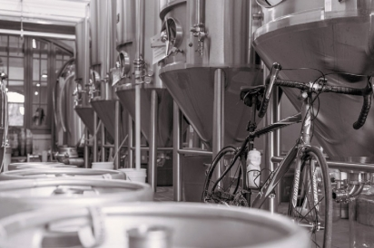 A bike in Old Rail Brewing Co.